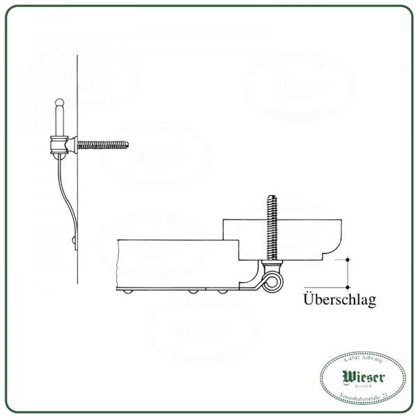 Gewindeabdeckung für Winkelband mit Kegel