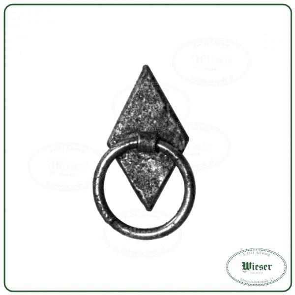 Möbelgriff Raute mit Ring